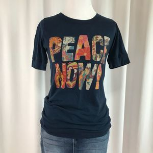 Lucky Brand Peace Now! graphic t-shirt
